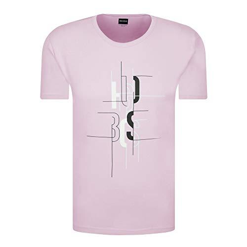 BOSS Hugo Tee 2 Graphic Logo Camiseta Rosa Claro 50431815