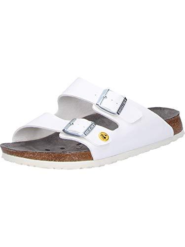 Birkenstock 89418-43 ESD Chaussures professionnelles Arizona antistatiques Birko-Flor Taille Lit mezzanine 43-slim blanc EU