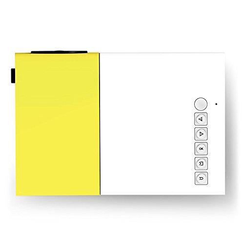 Mini proyector de Bolsillo, proyector LED 1080P Portátil HD Soporte PC Portátil USB Stick USB / SD / AV / HDMI Inpu para recreación al Aire Libre, Lugares de Entretenimiento
