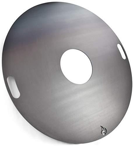 Feuerplatte | Grillring | Grillplatte | Plancha - Universalgröße für Stahlfässer, Öltonnen Stahltonnen oder große Kugelgrills - Der Neue Grill-Trend (Ø 100 Universal)