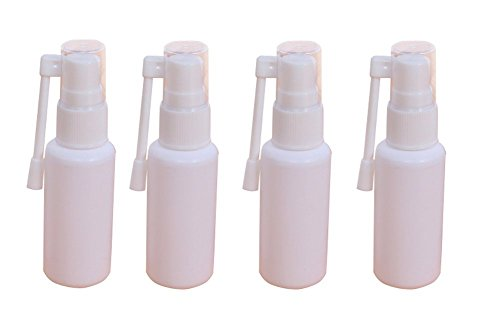 Lot de 6 flacons vaporisateurs rechargeables en plastique avec pulvérisateur nasal 360 degrés (blanc)