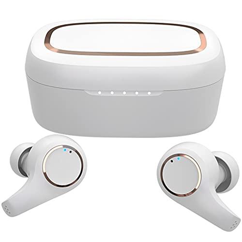 Auriculares inalámbricos, Auriculares Bluetooth 5.0, subwoofer 3D Mini Auriculares estéreo 40H, operación táctil IPX6 micrófono Impermeable Impermeable, con Caja de Carga, Adecuado para Deportes