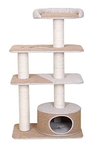 HLZY Cat Tower Popular Cat Toy Cat Trees and Towers Cat Castle Toys, Activity Trees Cat Climbing Frame, Cat Funny Cat Table Cat Supplies Pet Toy Sisal Structure Cat Toy Nest Mat Pet Furniture