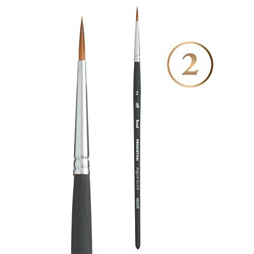 Princeton Aqua Elite, Series 4850, Synthetic Kolinsky Watercolor Paint Brush,Round, 2