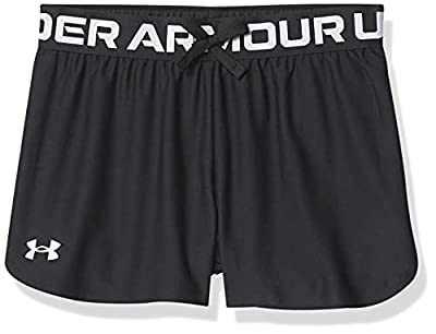 Under Armour Kids Girls' Play Up Solid Shorts, Black, MD (10-12 Big Kids) from Under Armour Apparel