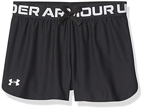 Under Armour Girl's Play Up Solid Shorts (Big Kids) Black XL (18-20 Big Kids)