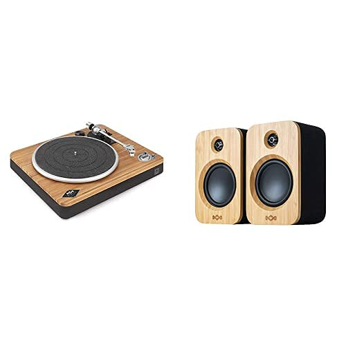 House of Marley Get Together Duo, Casse Altoparlanti Bluetooth Wireless + House of Marley Stir It Up Wireless Turntable, Giradischi per Vinili Bluetooth
