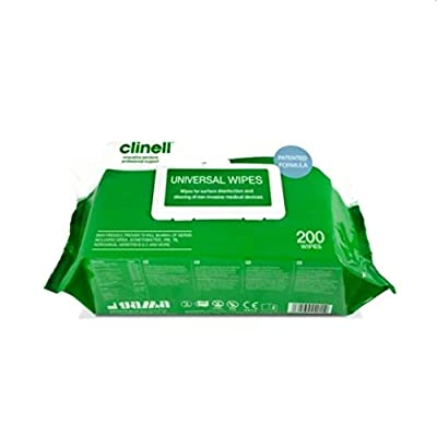 Clinell Universal Sanitising Wipes Large, 220mm x 280mm (Pack of 200) - (CW200) by FAP