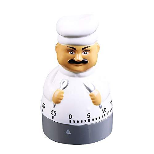 NAttnJf Temporizador para cocinar, diseño de chef, temporizador de cuenta atrás electrónico, cronómetro, despertador.