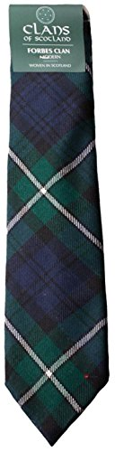 I Luv Ltd Forbes Clan 100% Wool Scottish Tartan Tie