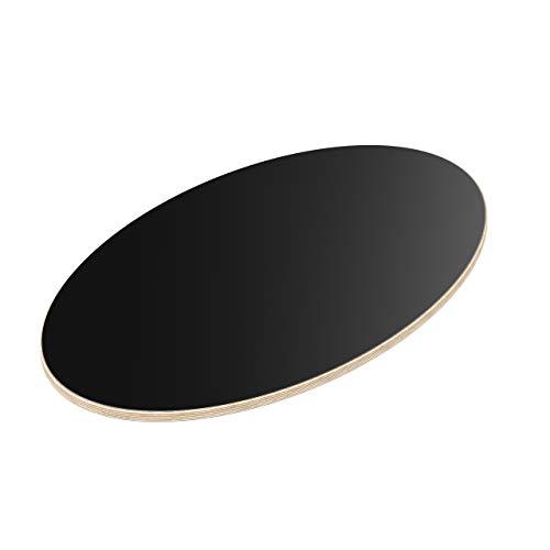 AUPROTEC Tischplatte 18mm schwarz 1400 mm x 400 mm Multiplexplatte Ellipse melaminbeschichtet von 40cm-200cm auswählbar Birken-Sperrholzplatten Massiv Holz Industriequalität Auswahl: 140x40 cm