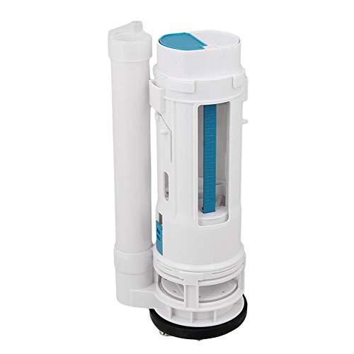 BQLZR White Toilet Cistern Dual Flush Push Button Valve 25cm Height Fit for Drain Diameter 65-75mm (See Video)