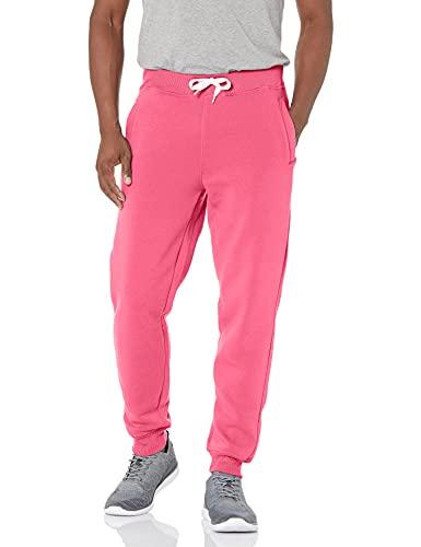 Southpole Men's Active Basic Jogger Fleece Pants, Deep Pink, X-Large