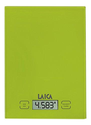 Laica KS1015P Balanza de cocina electrónica, 5 kg, 0 Decibelios, Cristal, Pistacho