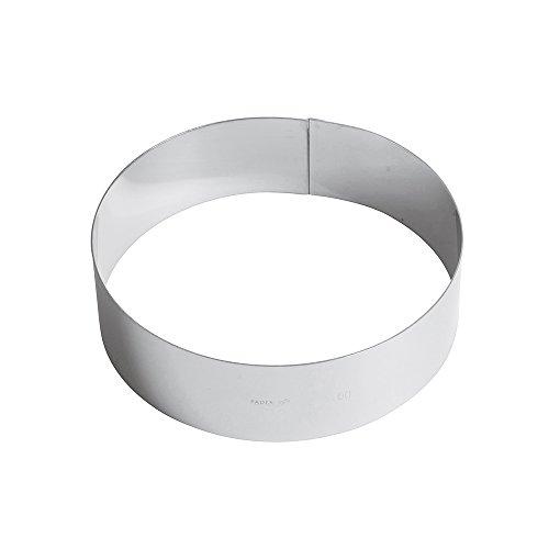 Paderno Anello per Torte/Coppapasta in Acciaio Inox 18/10, Diametro 20 cm, Altezza 6 cm