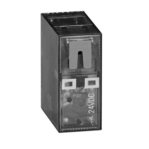 Relé miniatura, 2 conmutados 8A 12VDC con testigo led, 2,9 x 1,3 x 36,5 centímetros, color negro (Referencia: HR502CD012)