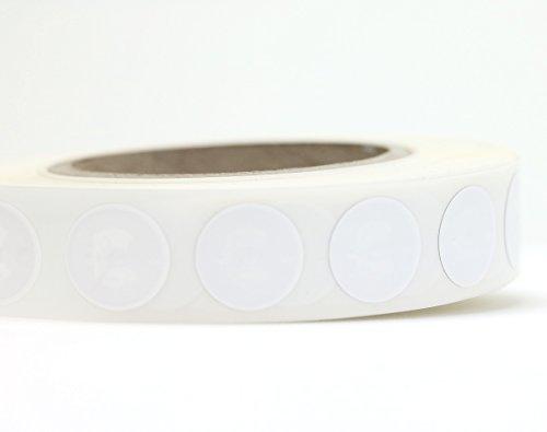 NFC Tag Sticker-Aufkleber 22 mm, 180 Byte, kompatibel mit allen nfc-fähigen Smartphones, 100 Stück in weiß, optimal für Geräte-/ Profilsteuerung (Wlan, Bluetooth, SMS, Telefonanruf per NFC), NXP NFC Chip