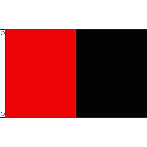 AZ FLAG Drapeau Rouge et Noir 150x90cm - Drapeau Deux Couleurs 90 x 150 cm - Drapeaux