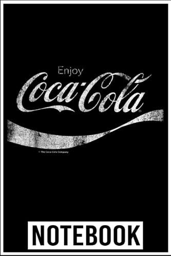 Notebook: Coca-Cola Vintage White Enjoy Logo Graphic notebook 6x9 inch by Denzi...