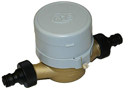 Single-Jet Cold Water Meter 1/2' BSP (15mm) with Push-on Hose Fittings