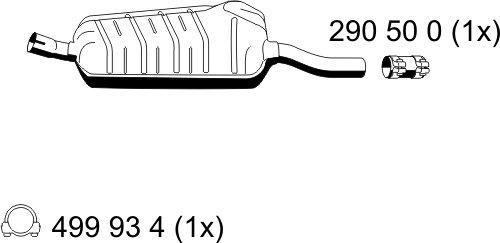Mittelschalldämpfer Ernst 275002 Dämpfer Abgasanlage