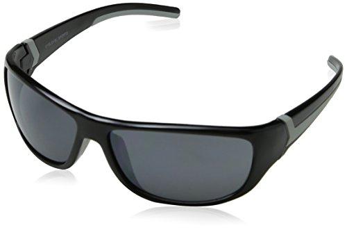 Eyelevel Herren Rebel Sonnenbrille, Schwarz (Black/Grey/Grey Mirror), 65
