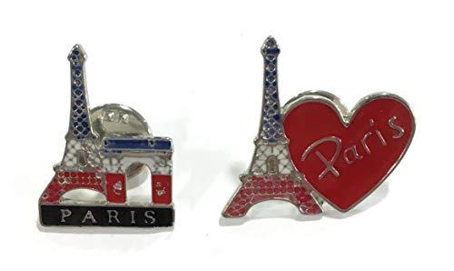 Cartexpo Lot de 2 pins Tour Eiffel/Paris - Environ 2.5x2 cm Piece