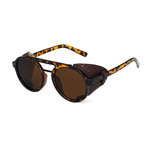 Gafas De Sol Clásicas Retro Polarizadas, Montura Redonda De Plástico, Ligera Y Apta para Viajes, Ciclismo Y Montañismo,Marrón