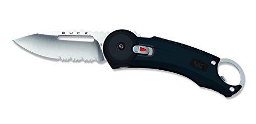 Buck 7750.BK Couteau Redpoint Lame à Trous et à Dents Acier Inox