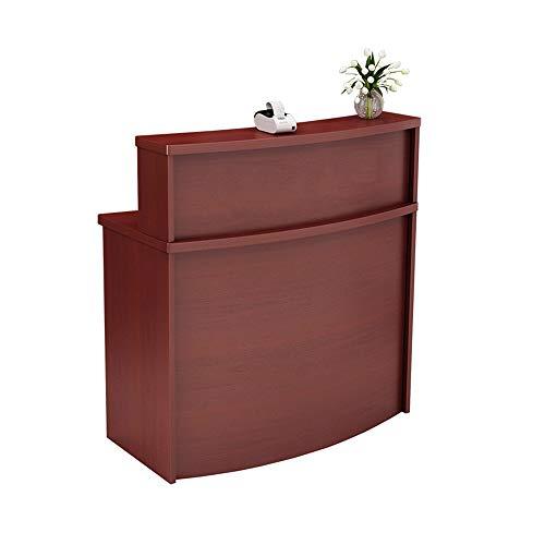 PQXOER Recepción Escritorio de Recepción Pequeña Peluquería Recepción Recepción Desks Simple Moderno Mujer Ropa Tienda Recepción Contador Curvado Caja Registradora Oficina Muebles Suministros