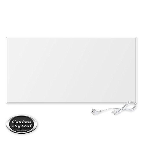 VIESTA F700 Panneau de Chauffage Infrarouge Carbon Crystal (dernière technologie), chauffage mural ultra plat, blanc, 700 Watts