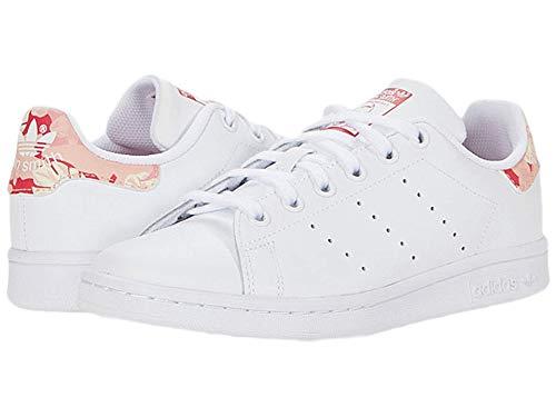 adidas Originals Stan Smith - Zapatillas Unisex para niños Grandes, Color Blanco, Rosa Fuerte, Talla 6