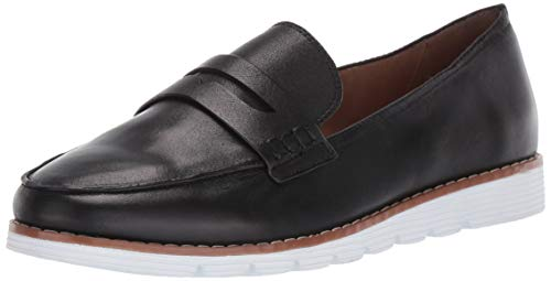 Blondo Penny Loafer Flat, Black Leather, 8.5 Medium US