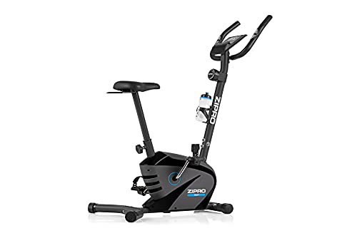 ZIPRO Bicicleta estática para Casa BEAT, entrenador eliptico, LCD Pantalla, sensores de pulso, ajuste de resistencia, 120kg