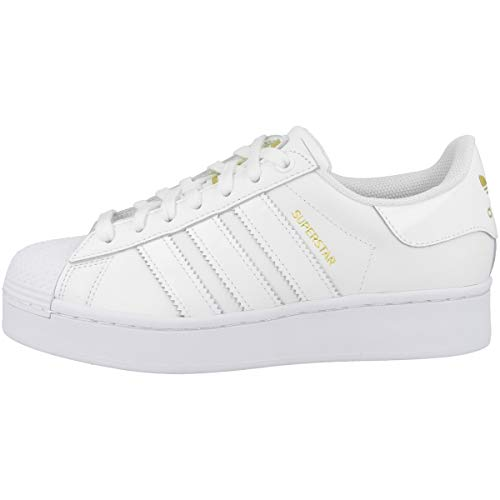 Adidas Superstar Bold W, Sneaker Mujer, White/Gold Metallic, 38 2/3 EU