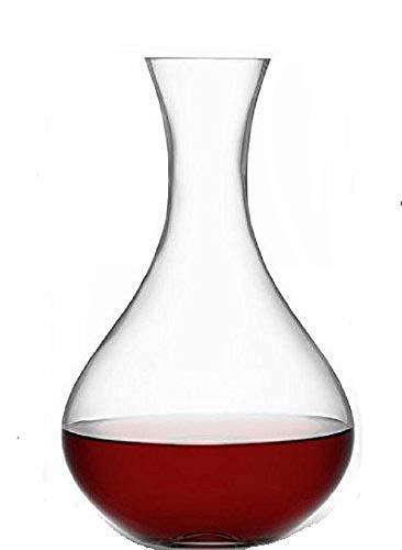Transparant glas hoge wijn karaf | fles 28cm x 6.5cm | 2.4 liter