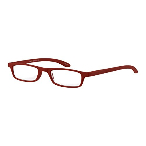 I NEED YOU Lesebrille Zipper / +2.50 Dioptrien / Rot