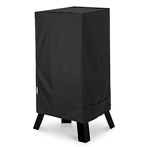 Unicook 40 Inch Electric Smoker Cover, Heavy Duty Waterproof Square Vertical Smoker Grill Cover, Fade and UV Resistant Material, Fits Masterbuilt 40 Electric Smoker, 23'W x 17'D x 39'H, Black