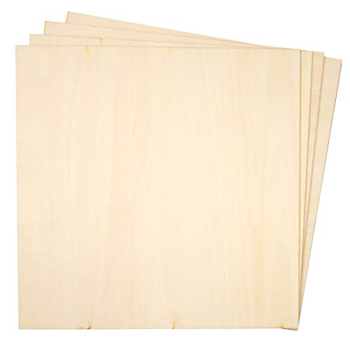 Bright Creations 8-Pack Square Basswood Plywood Thin Sheets for Wood Burning, 10 Inches