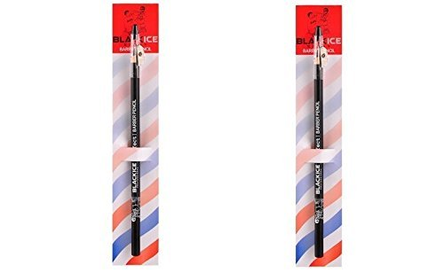 (2) Black Ice Spray Barber Pencils (Black)
