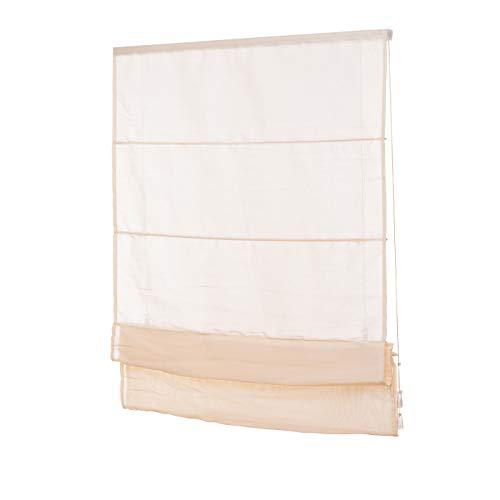 Ventana Estor Beige/tageslicht Raff plegable cortinas montaje sin agujeros Incluye Soportes diversos...