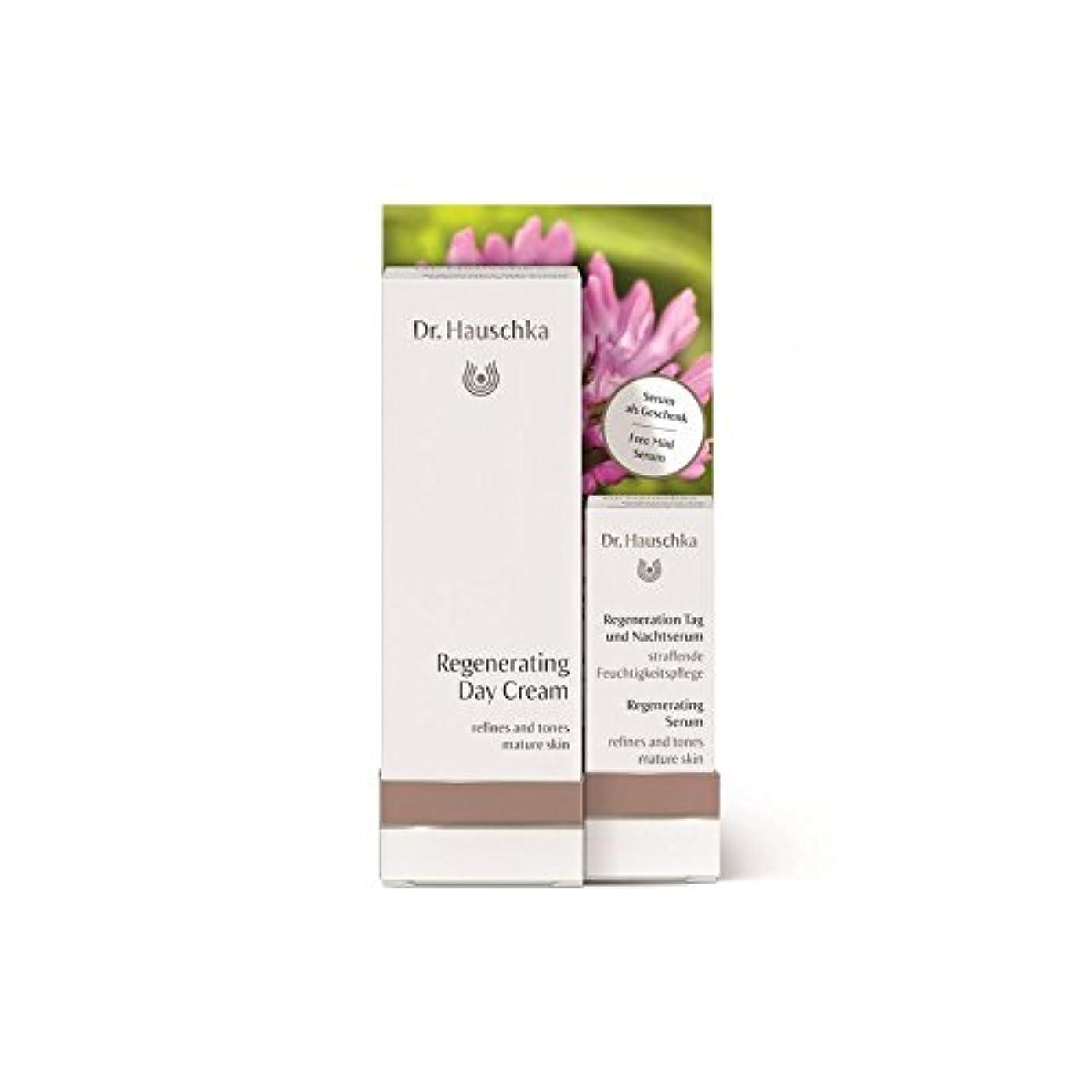 旅行者学部長耕す無料再生血清2.5ミリリットルとハウシュカ再生デイクリーム x4 - Dr. Hauschka Regenerating Day Cream with a free Regenerating Serum 2.5ml (Pack of 4) [並行輸入品]