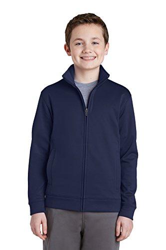 Sport-Tek Boys Sport-Wick Fleece Full-Zip Jacket (YST241) -NAVY -L