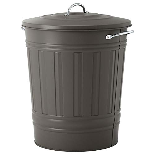 IKEA KNODD vuilnisbak met deksel grijs (51x Ø41 cm)