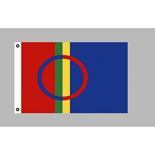 Flagge 90 x 150 : Lappland / Flagge der Samen / Lappen
