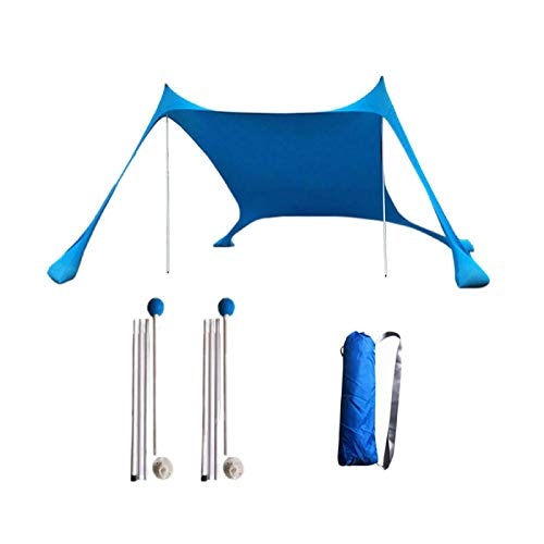 Jtoony Toldo de 210 x 210 x 160 cm, para la familia, ligero, antirayos UV, para tienda de campaña (tamaño: 210 x 210 x 160 cm, color: azul)