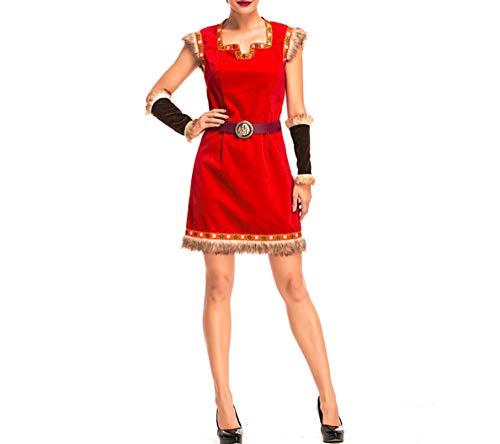 Mitef Disfraz de soldados vikingos nrdicos de Halloween para adultos, L
