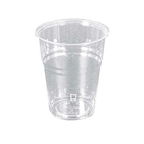 Palucart 300 Bicchieri Biodegradabili 200 ml RIGIDI CRISTALL compostabili PLA Tazza Acqua bibite rispetta la Natura