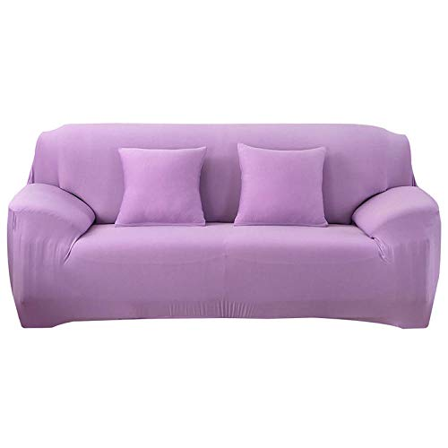 HXTSWGS Funda de sofá de diseño Creativo,Elastic Sofa Cover, All-Inclusive Sofa Covers For, Living Room Couch Cover Chair Cases,Furniture Protective Cover-Light Purple_190-230cm