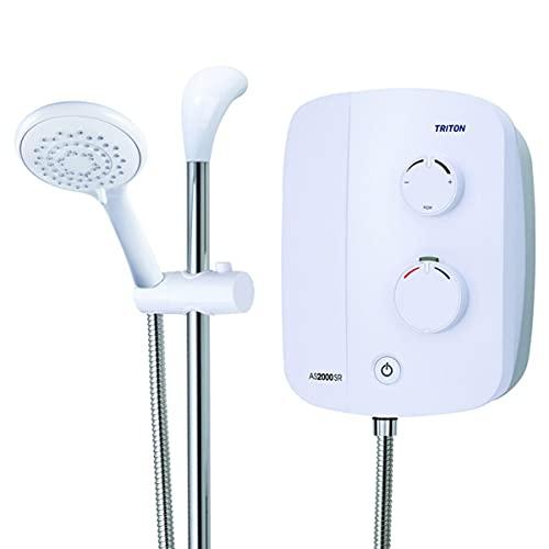 Triton Silent Running Thermostatic 10.5kw White Power Shower